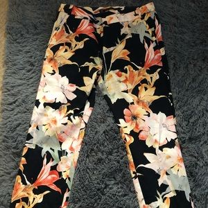 Zara floral dress pants 6